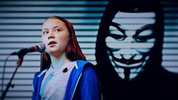 Hacker grubu Anonymous'tan Greta Thunberg'e mesaj