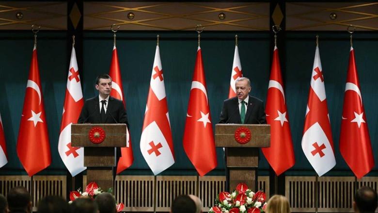 Başkan Erdoğan, Gakharia'yı kabul etti